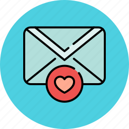 communication, email, envelope, favourite, heart, message icon