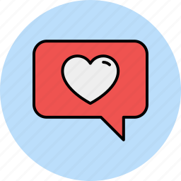 chat, communication, favourite, like, love, message, text icon