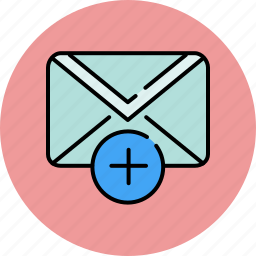 add, communication, compose, email, envelope, message, new icon