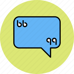 chat, communication, message, quotation, quote, text icon