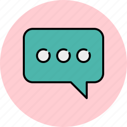 chat, communication, message, private, text, typing icon