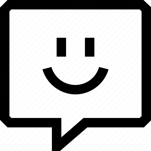 bubble, chat, dialogue, emotion, face, happy, message, smile, speech icon