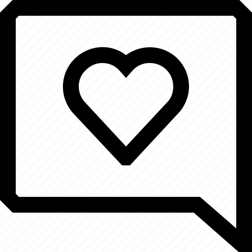 bubble, chat, dialogue, heart, love, message, speech icon