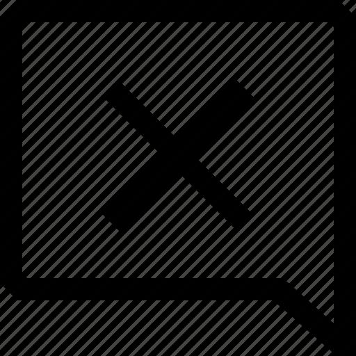 bubble, cancel, chat, cross, dialogue, message, no icon