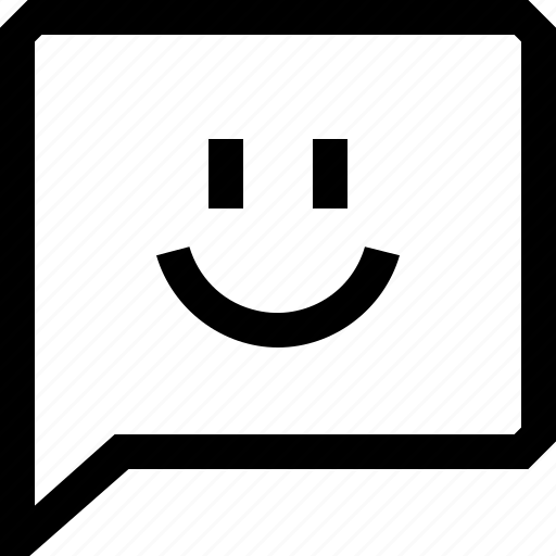 bubble, chat, dialogue, emotion, face, happy, message icon