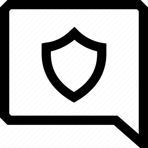 bubble, chat, dialogue, lock, message, secure, security icon