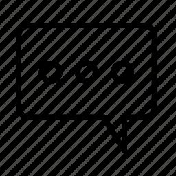 dialogue, talk0a, typing icon