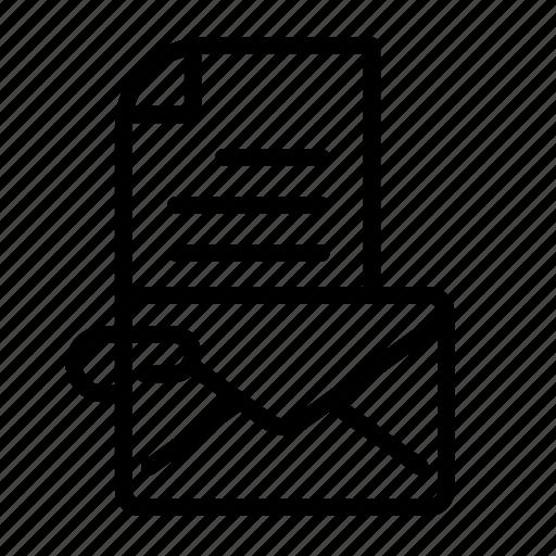 attach, attachment, clip, envelope, mail icon