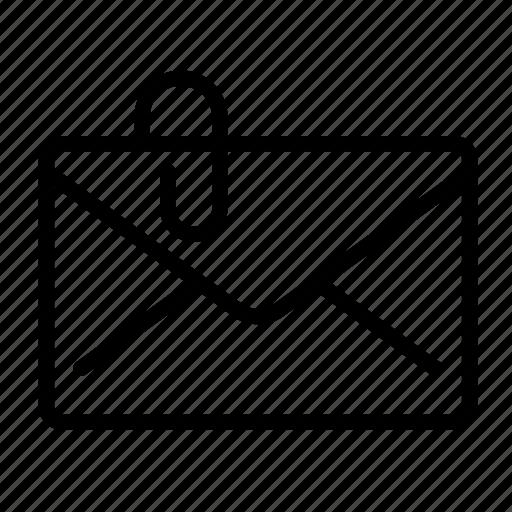 attach, attachment, clip, message icon