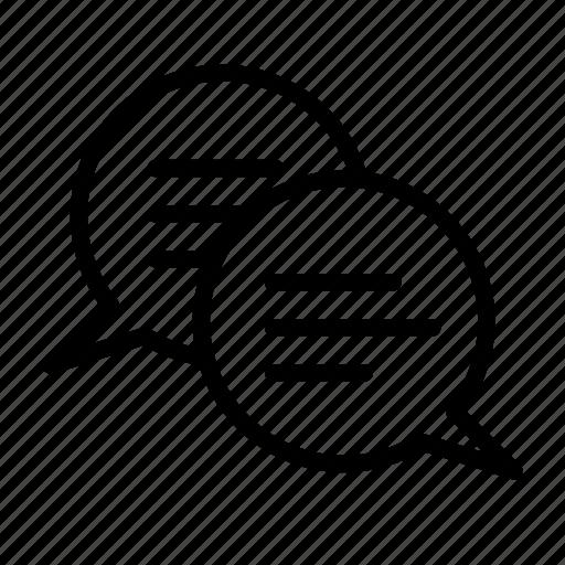 bubble, chat, dialogue, speech, text icon