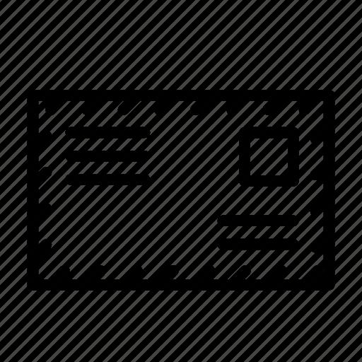 address, envelope, letter, mail, post icon