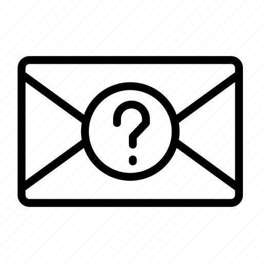 about, envelope, help, mail, question icon