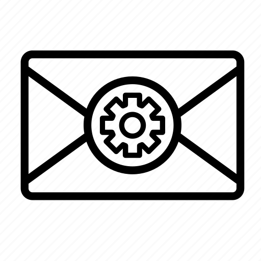 chat, gear, mail, message, settings icon