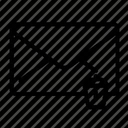 envelope, mail, message, remove, trash icon