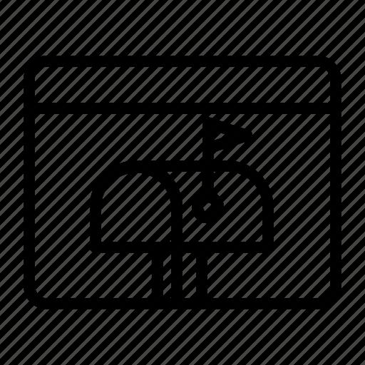 app, application, inbox, mail, mailbox icon