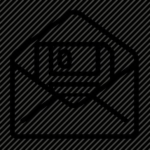 disquette, envelope, floppy, message, save icon