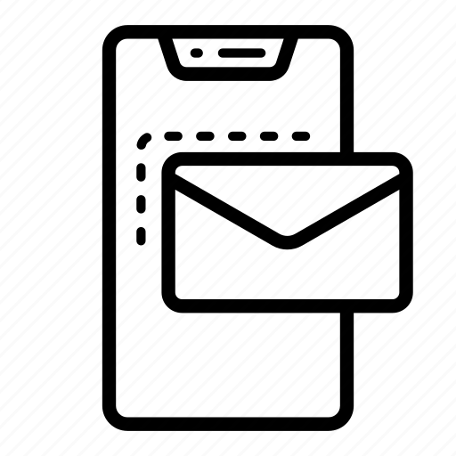 email, mail, mobile, phone icon