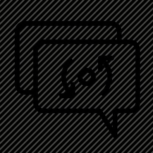 arrows, reply, retweet, send, update icon