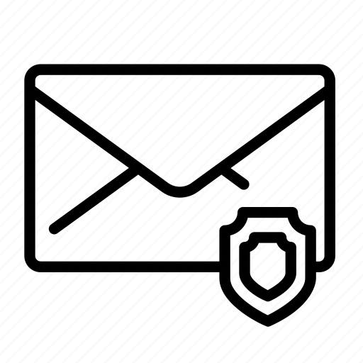 mail, message, secure, secured icon