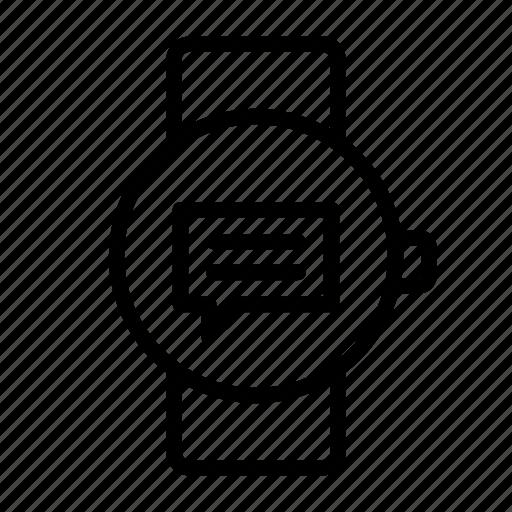 bubble, chat, message, notification, smart, speech, watch icon