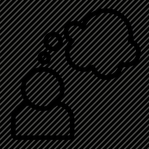 bubble, speech, think, thinking icon