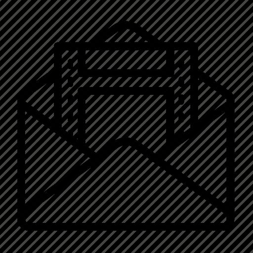 envelope, message, send, video icon