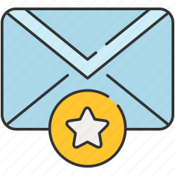 bookmark, email, envelope, guardar, message, save, star icon
