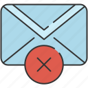 cancel, checkmark, communication, delete, email, envelope, message icon