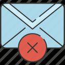 cancel, checkmark, communication, delete, email, envelope, message