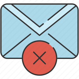 cancel, checkmark, communication, delete, email, envelope, message icon
