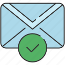 approve, checkmark, communication, confirm, email, envelope, message