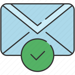 approve, checkmark, communication, confirm, email, envelope, message icon
