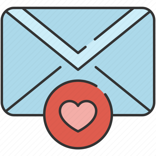 email, envelope, favourite, heart, love, message icon