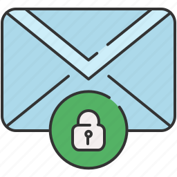 email, envelope, lock, message, privacy icon