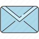 communication, email, envelope, mail, message, unread icon