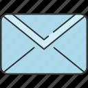 communication, email, envelope, mail, message, unread