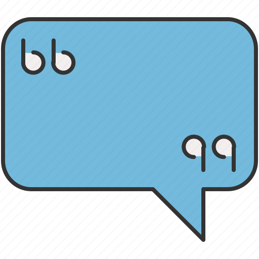 chat, message, quotation, quote, text icon