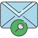 email, envelope, magnifier, message, search