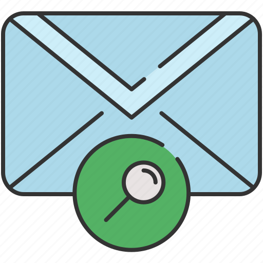 email, envelope, magnifier, message, search icon