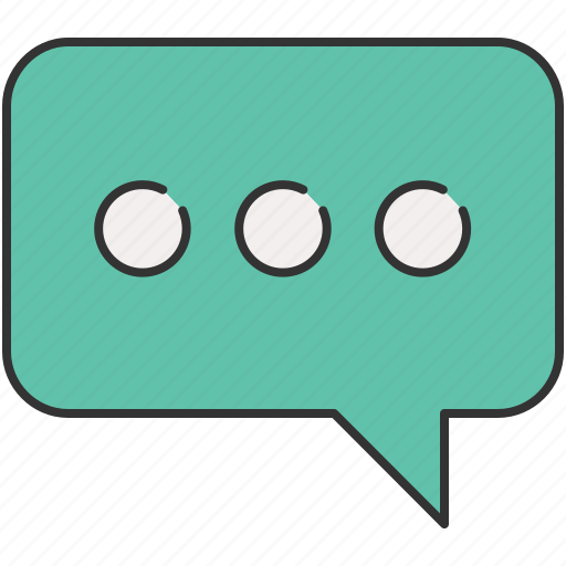 chatting, communication, message, messaging, typing icon