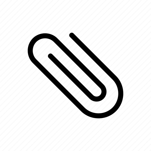 attach, attachment, line, messenger, outline icon