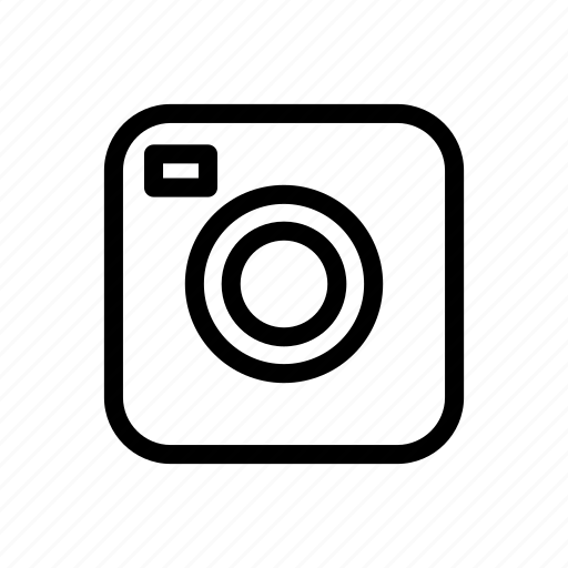 camera, line, messenger, outline, picture, video icon
