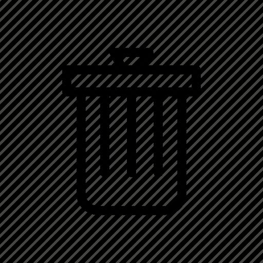 delete, line, messenger, outline, trash icon