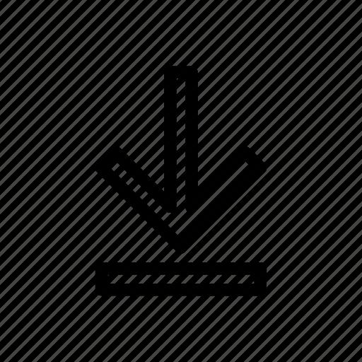 download, line, messenger, outline icon