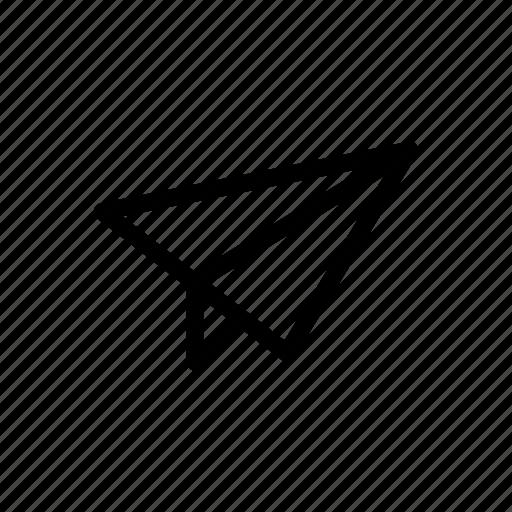 line, messenger, outline, send icon
