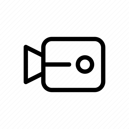 line, messenger, outline, video, video call icon