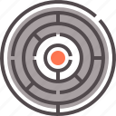 circular, complex, game, labyrinth, puzzle, puzzled