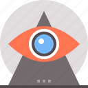 conspiracy, eye, global, theory icon
