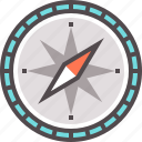 compass, course, direction, route, way icon
