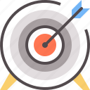 arrow, goal, shooting, shot, target icon